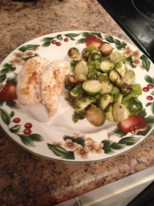 Grilled Chicken and Brussel Sprouts