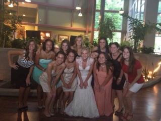 Sister's at Em's Wedding
