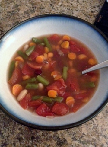 Completed Crockpot Minestrone