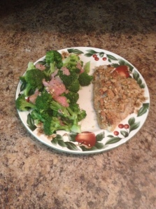 Pecan Crusted Cod with Homemade Red Onion Garlic Sauce