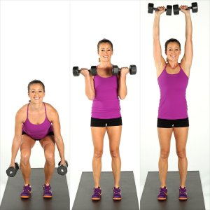 Squat Curl Press