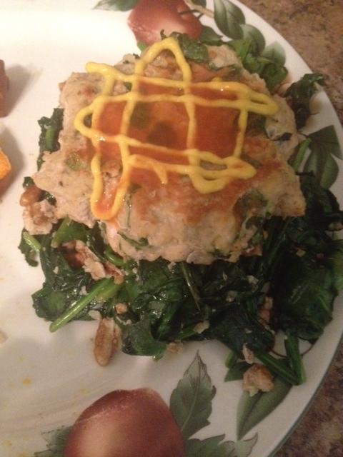 Healthy Ground Chicken Spinach Burgers