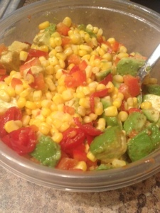 Simple Summery Corn Salsa